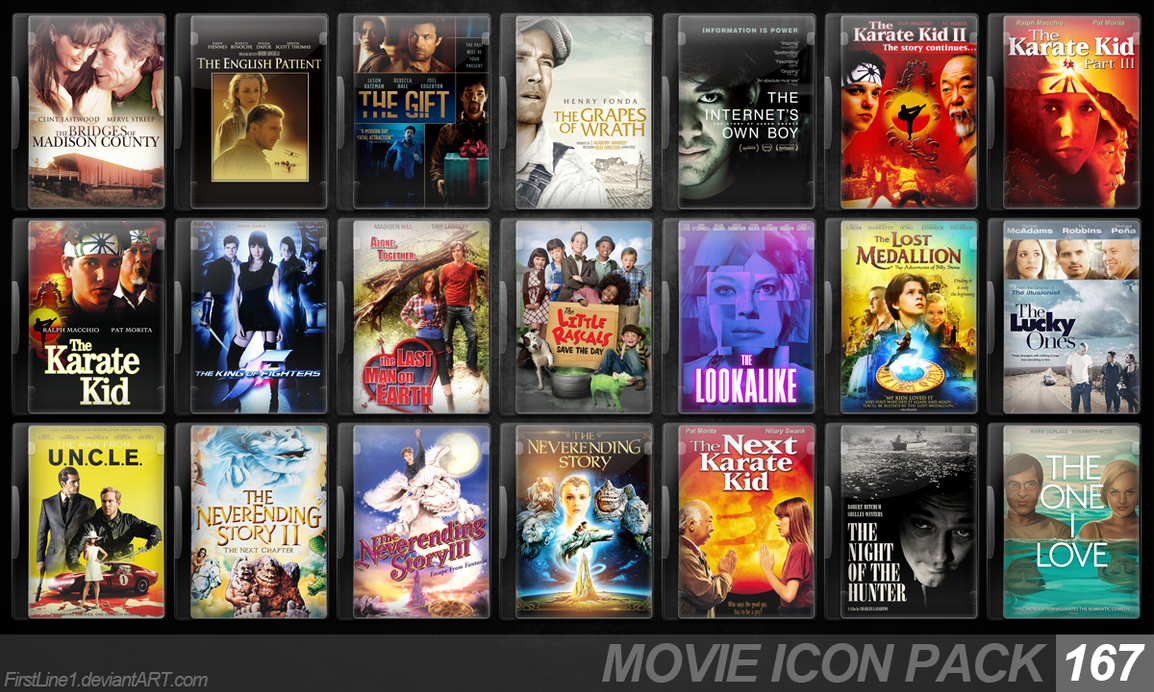 Movie Icon Pack 167 by FirstLine1
