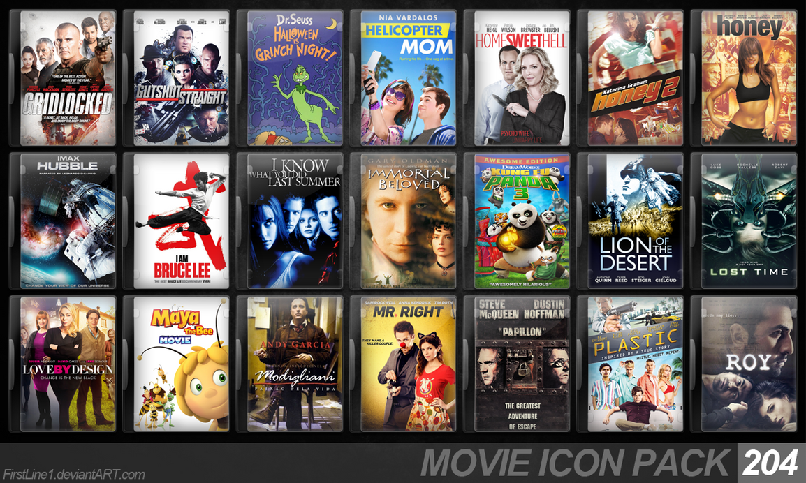 Movie Icon Pack 204 by FirstLine1
