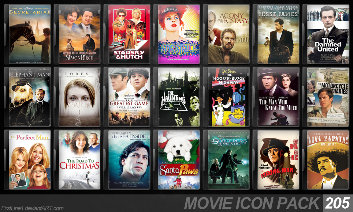 Movie Icon Pack 205 by FirstLine1