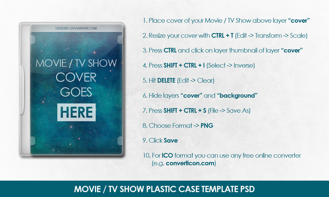 Movie / TV Show Plastic Case Template PSD by FirstLine1 on DeviantArt