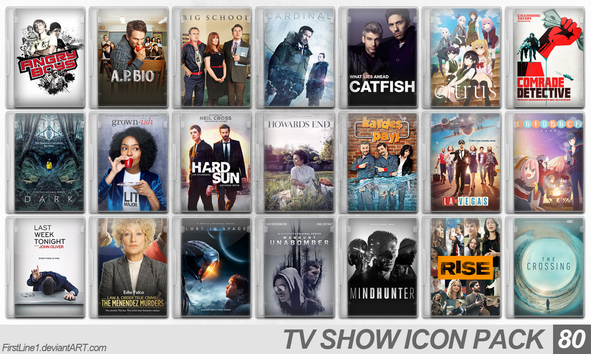 TV Show Icon Pack 80 by FirstLine1