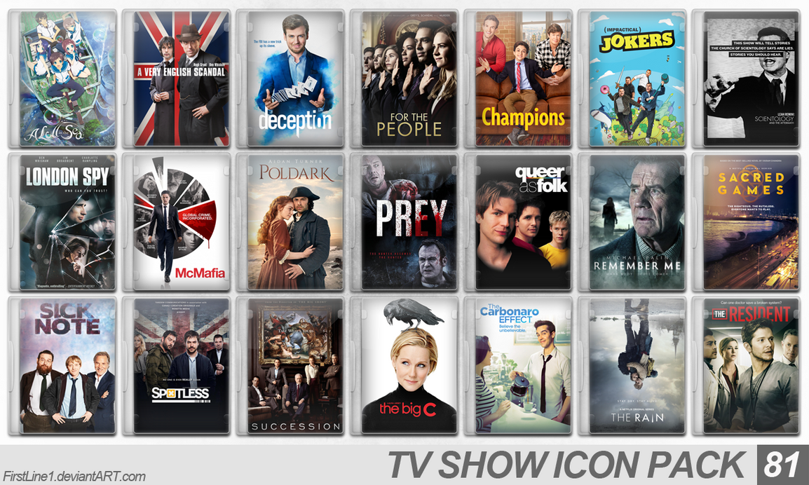 TV Show Icon Pack 81 by FirstLine1