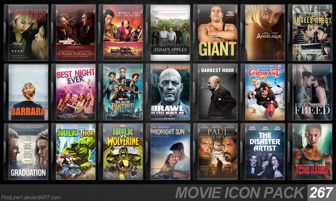 Movie Icon Pack 267 by FirstLine1