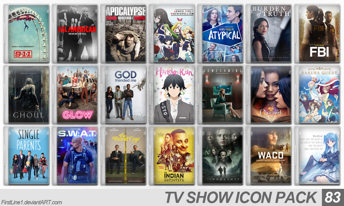 TV Show Icon Pack 83 by FirstLine1