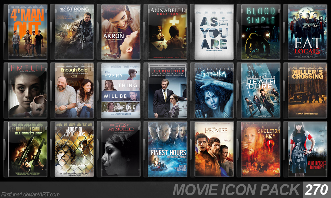 Movie Icon Pack 270 by FirstLine1