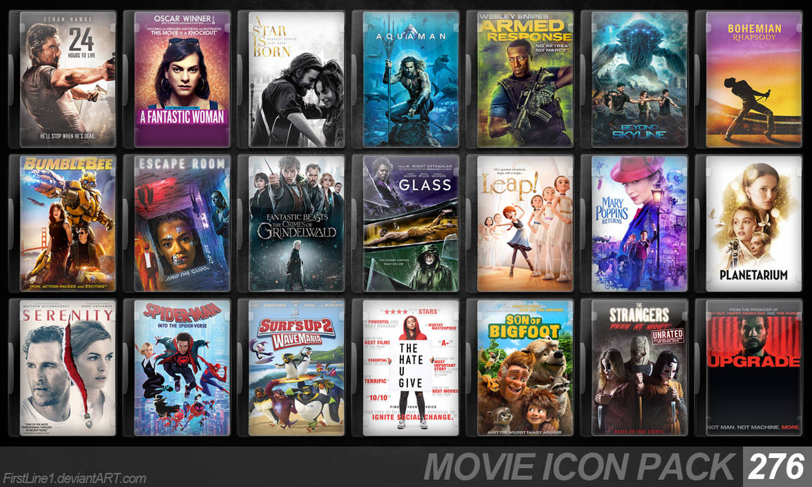 Movie Icon Pack 276 by FirstLine1