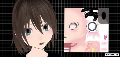 Fancy Goth Face and Eye Texture Download! by SmolCrybabyDemon