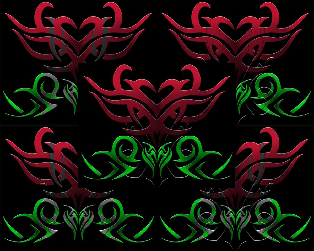 tribal rose wallpaper www pixshark com images Cool Vector Yin Yang Vector Rough