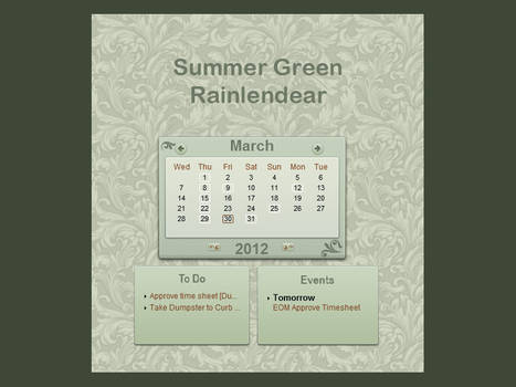 Summer Green Rainy