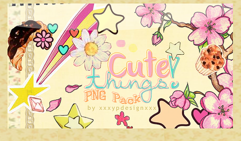 Cute Things -PNG Pack- by xxxypdesignxxx