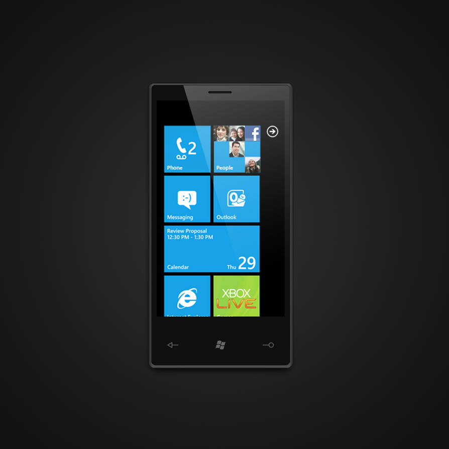 Windows Phone 7 PSD by jakeroot