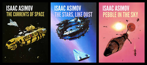 Galactic Empire Series (Isaac Asimov) Book Covers