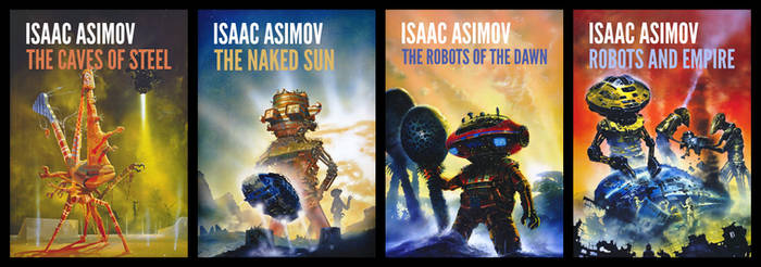 Robots Series (Isaac Asimov) Book Covers by aldomann