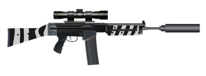 Zebra Rifle by ScarletLightning565