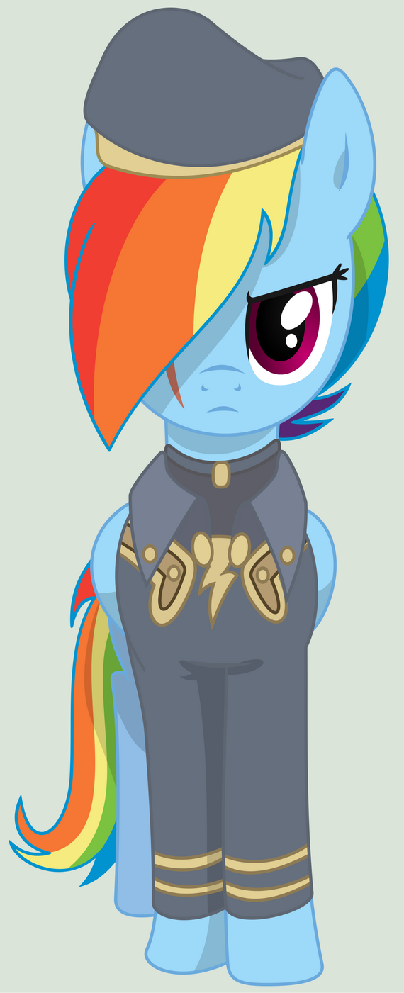 Rainbow Dash, Mare of the Ministry of Awesome by ScarletLightning565