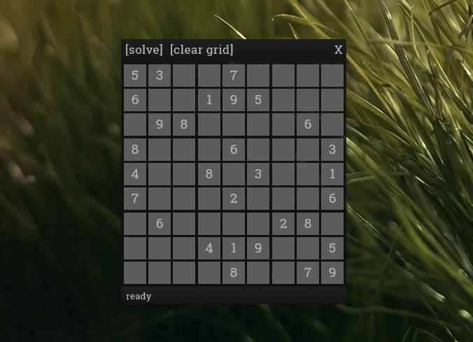 Rainmeter Sudoku Solver by FlyingHyrax