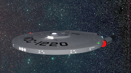 Baton Rouge class starship for Daz Studio by AntonioCC