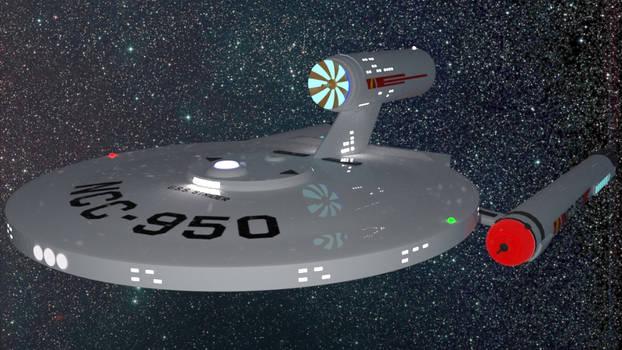 Strider class starship for DAZ Studio by AntonioCC
