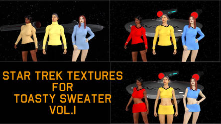Star Trek Textures for Toasty Sweater Vol. I by AntonioCC