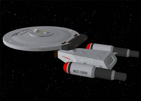 Dave Metlesits' Baton Rouge class starship (OBJ) by AntonioCC