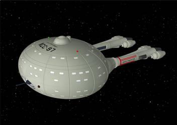 David Metlesits Mann Class starship (OBJ) by AntonioCC