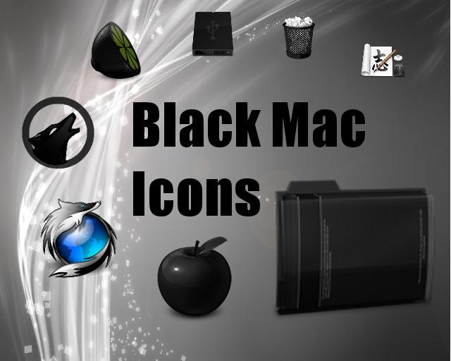 Black-Mac-Icons by Jameshardy88