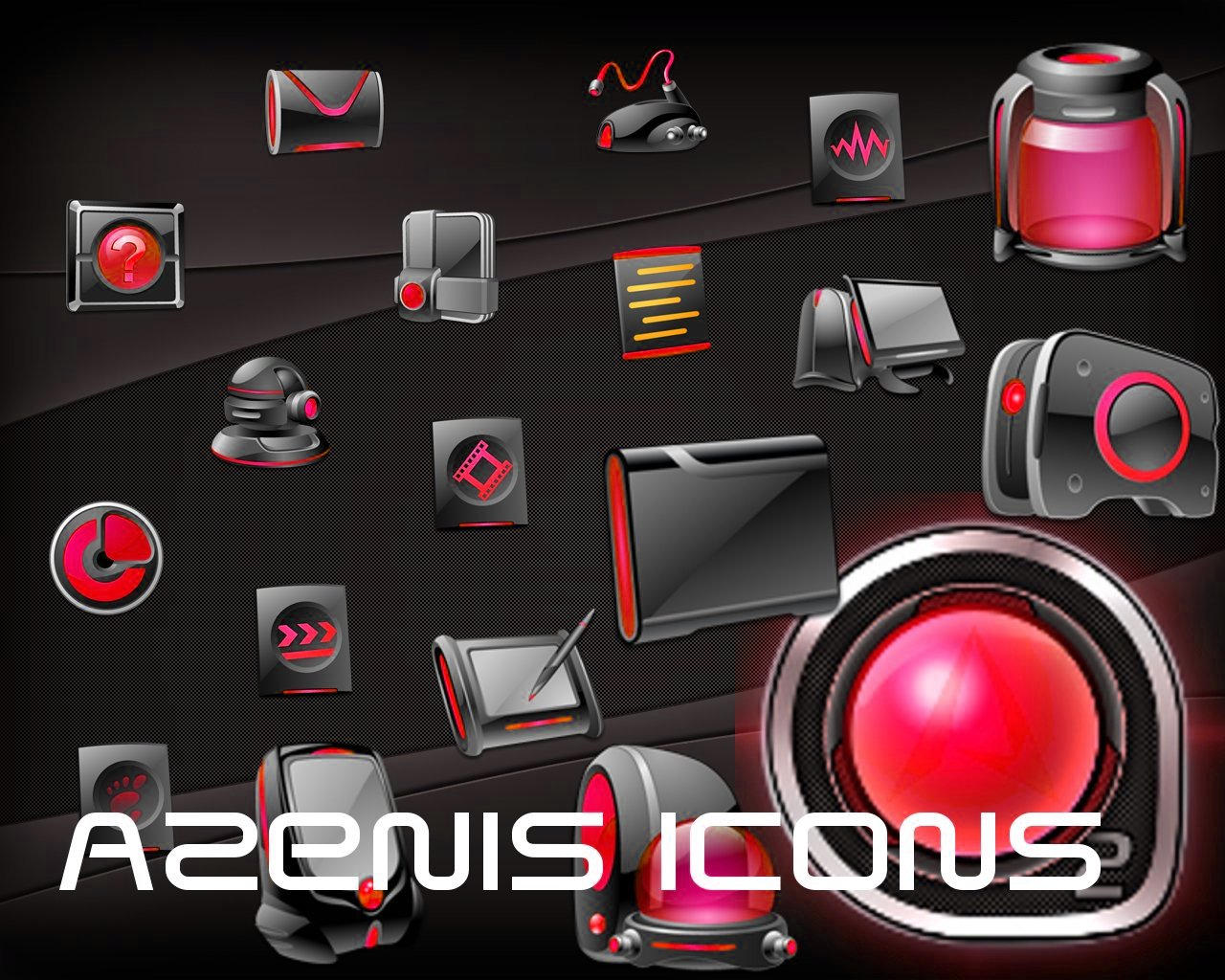 Azenis Red Icons by Jameshardy88