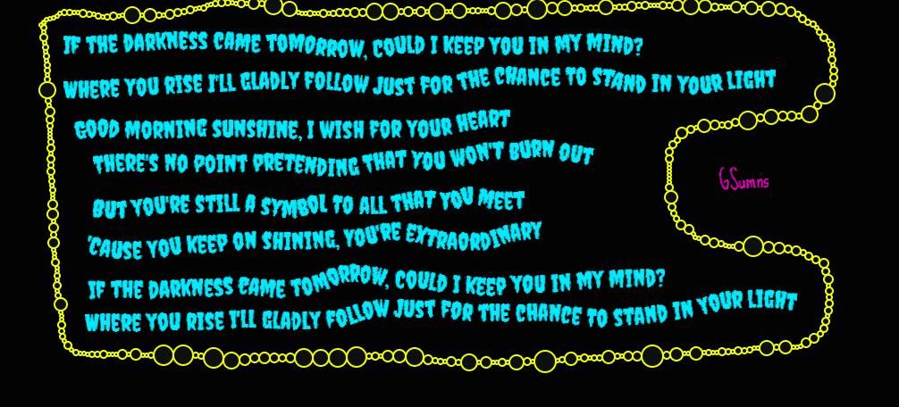 Good Morning Sunshine Words : Good morning sunshine lyrics part by gsumns on deviantart