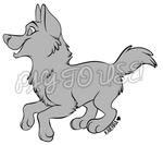 PAY TO USE: CANINE LINEART #5 by kaierra