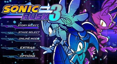 Sonic Rush 3 Menu Screen