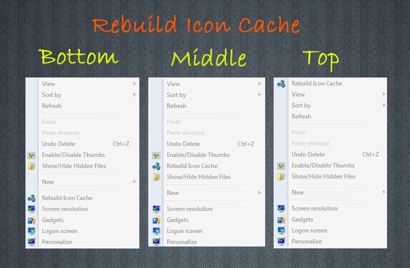 Rebuild Icon Cache v2 by gokool