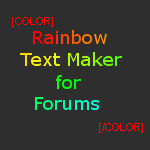 Rainbow Text Maker for Forums