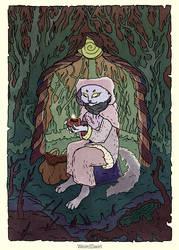Under the magic lantern by WeirdSwirl