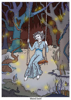 Swinging in the forest