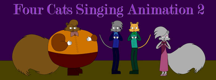 Four Cats Singing Animation 2