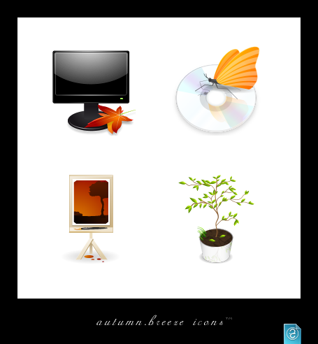 Autumn Breeze Icons by da-flow