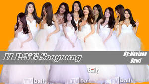 Sooyoung  With White Dress PNG Pack