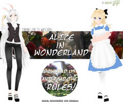 MMD - Alice in Wonderland (Models pack download) by Thomasfag