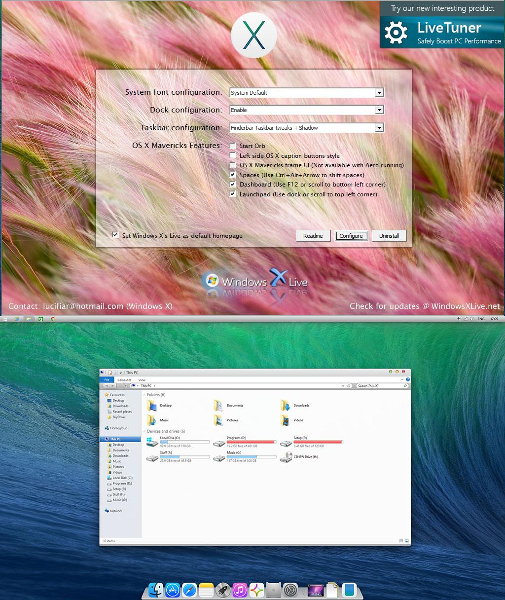 OS X Mavericks UX Pack 3.0 by windowsx