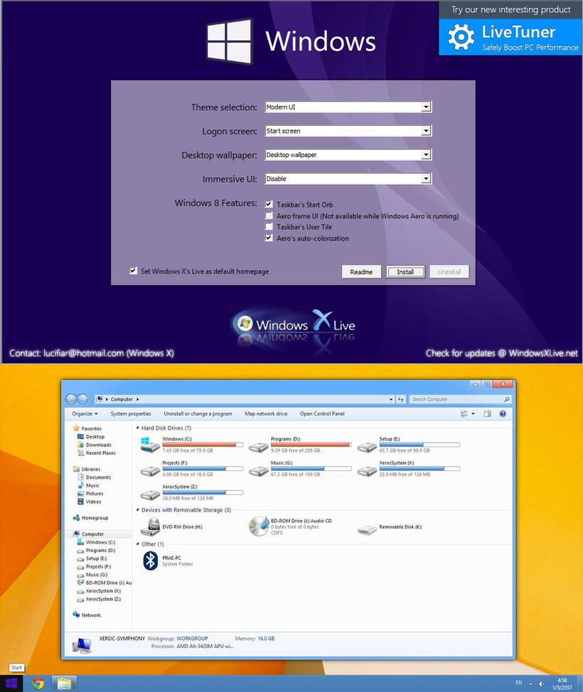 Windows 8 UX Pack 8.1 by windowsx