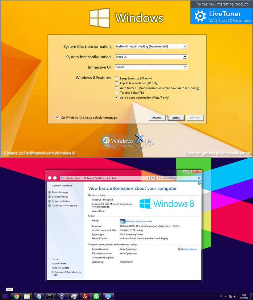 Windows 8 Transformation Pack 8.1 by windowsx