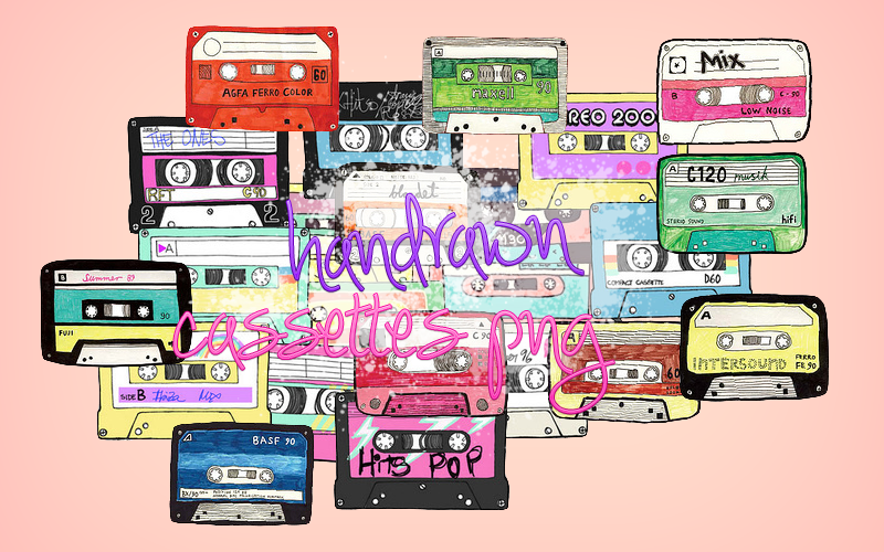 25 Cassettes PNG by notasinglesong2