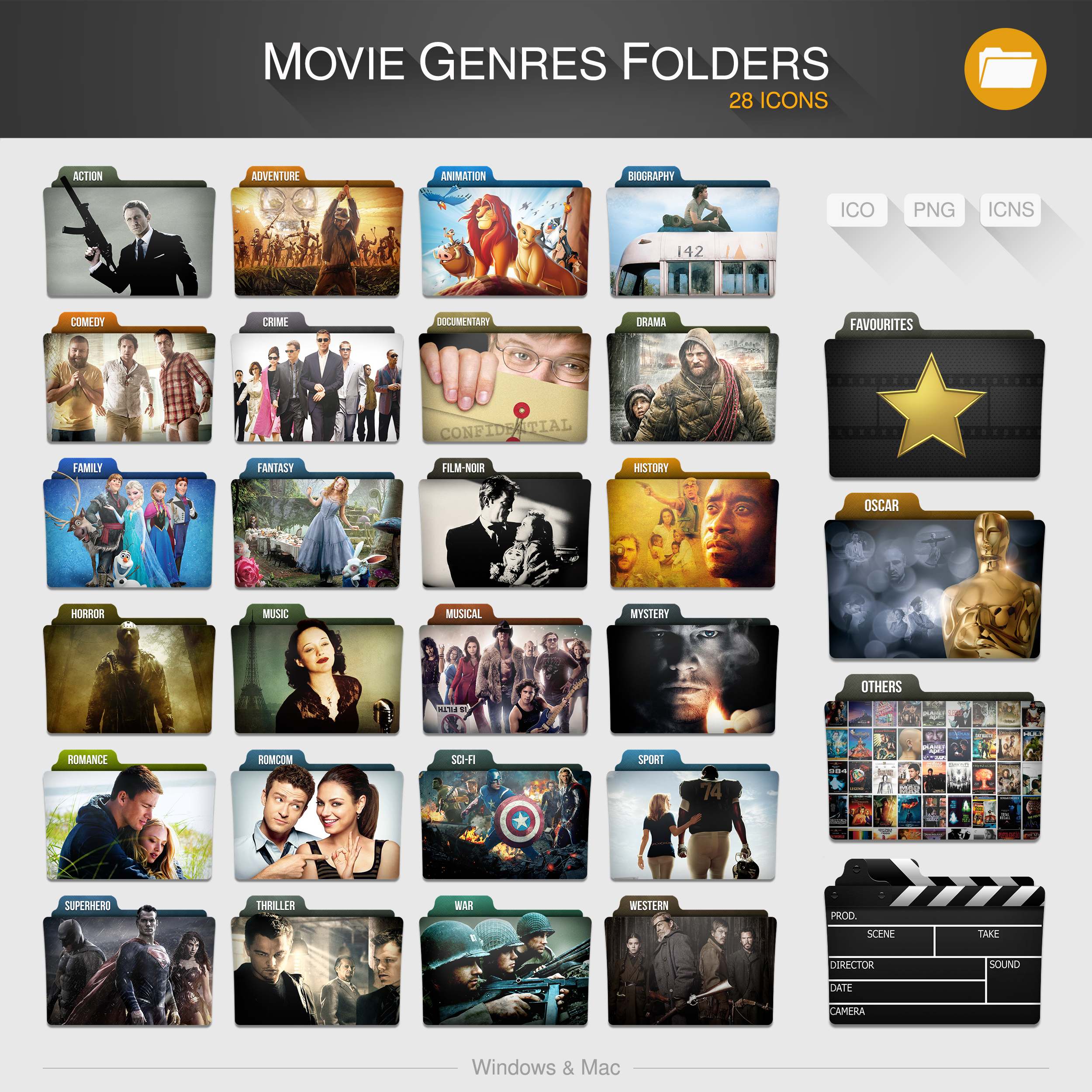 Movie Genres Folders By Limav Movie Genres Folders By Limav
