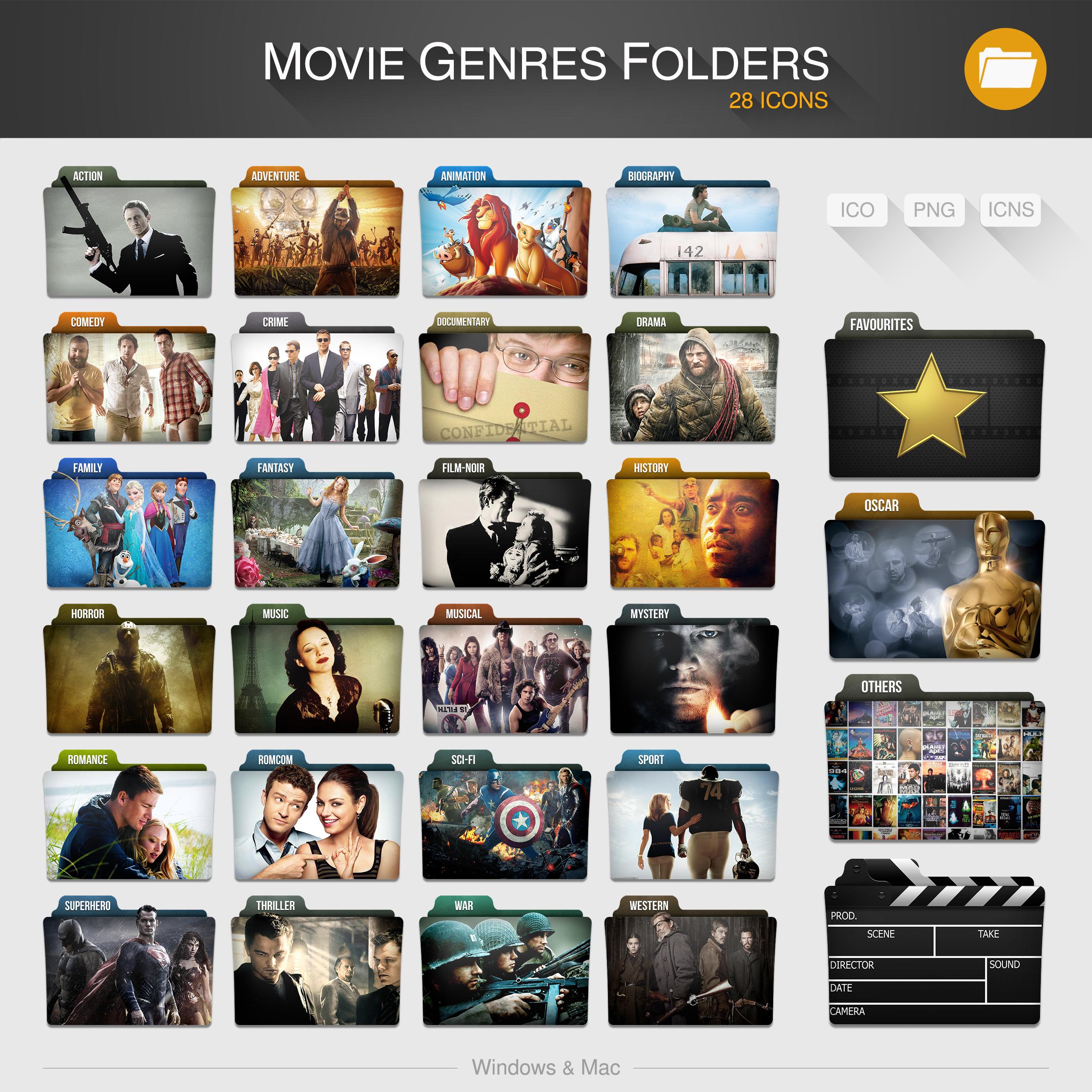 Movie Genres Folders By Limav Movie Genres Folders By Limav