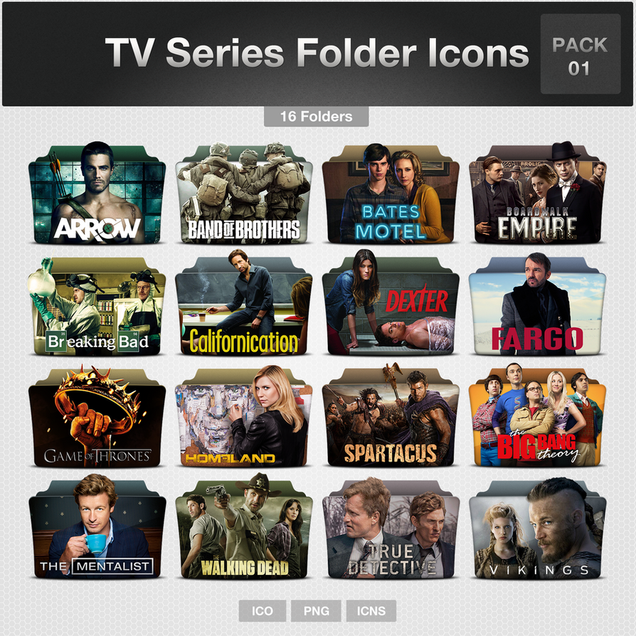 Television Shows 4u Tv Series Folder Icons Pack 01 By