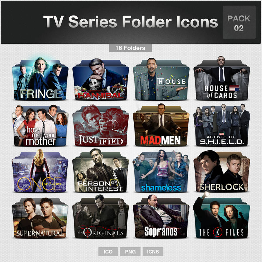 TV Series Folder Icons - PACK 02 by limav on DeviantArt