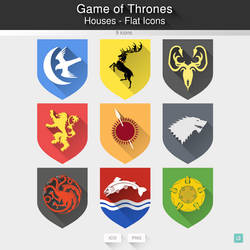 Game of Thrones Houses - Flat Icons