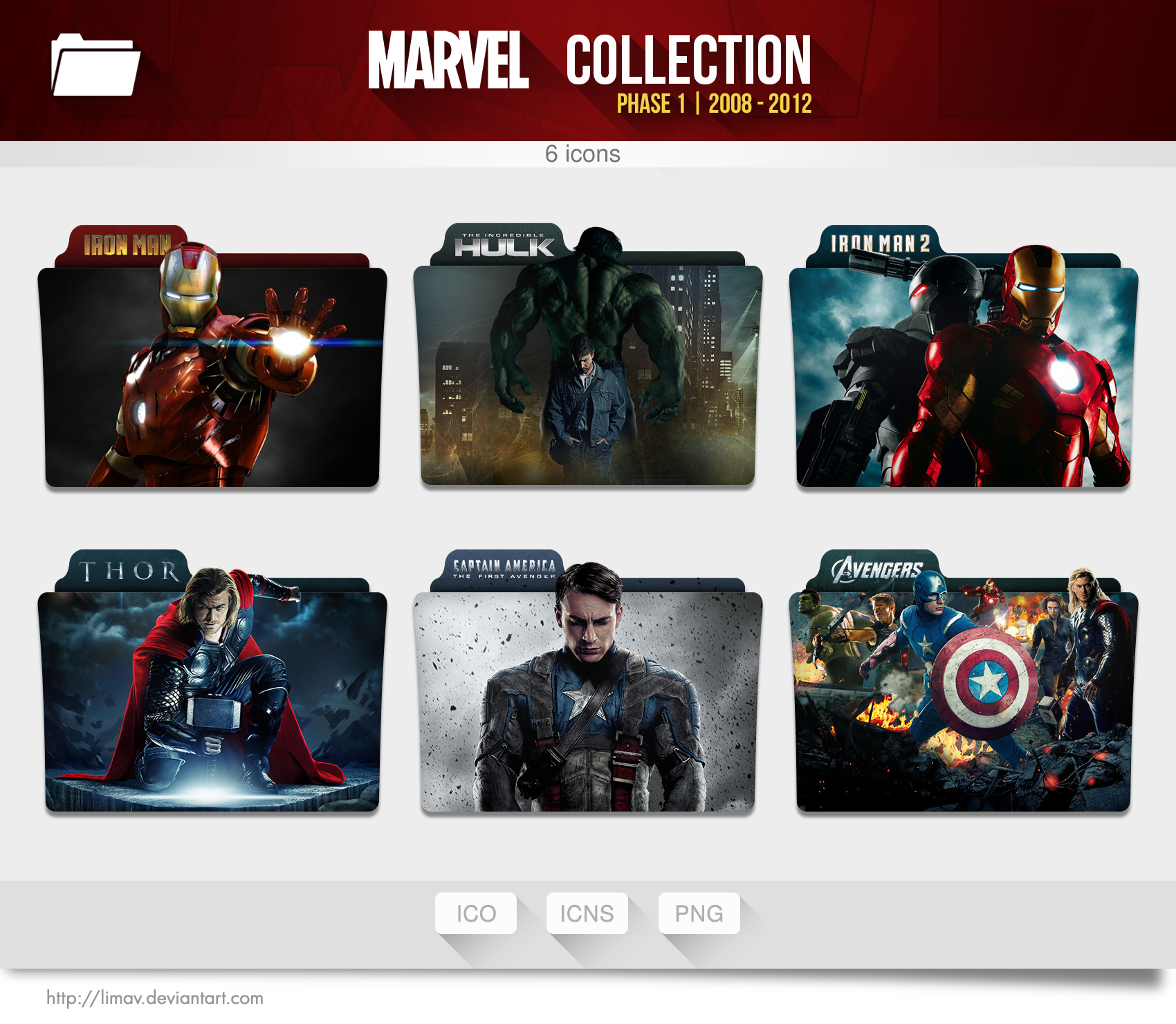 Marvel Collection Folders - Phase 1 by limav on DeviantArt