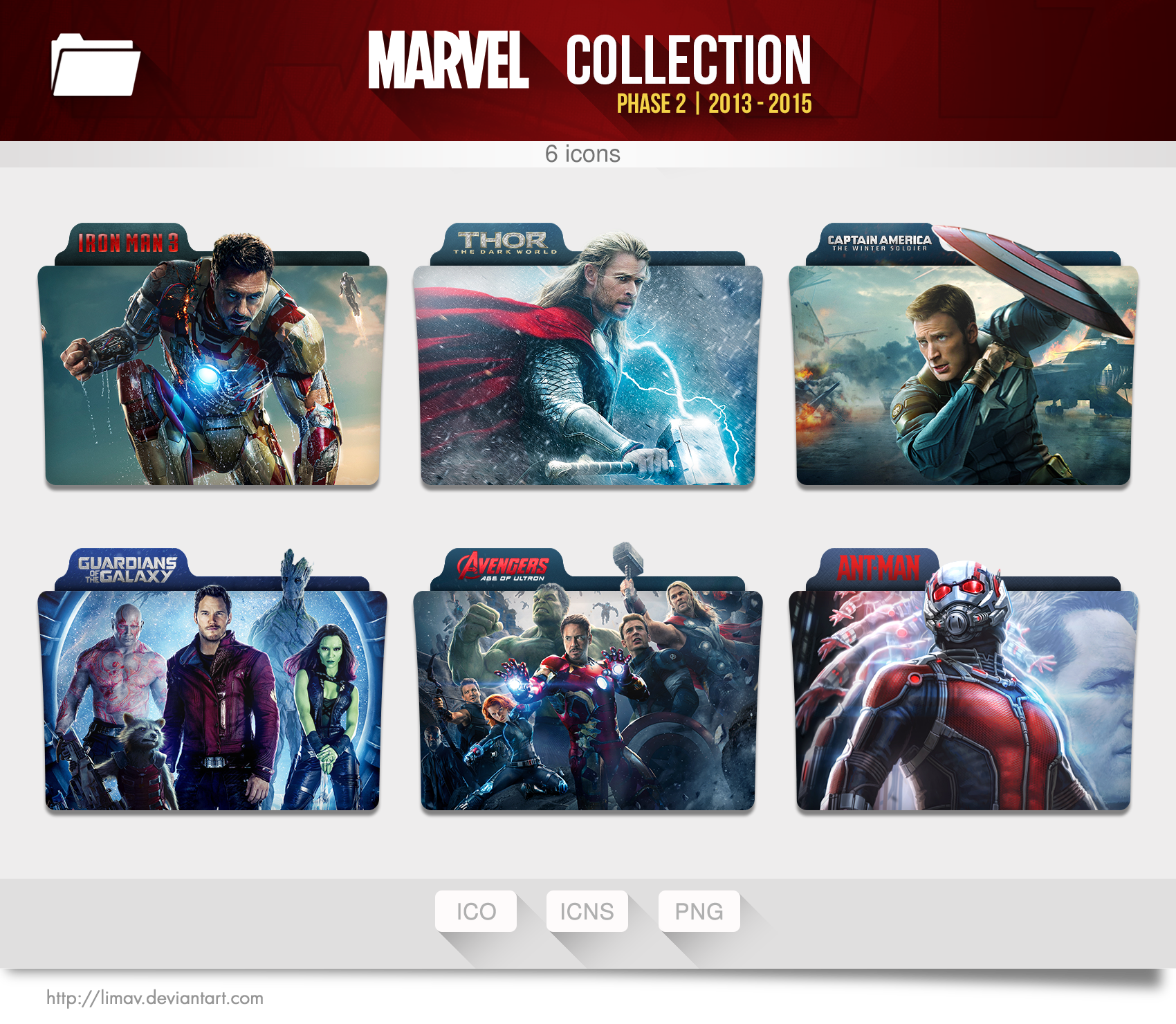 Marvel Collection Folders Phase 2 By Limav On Deviantart