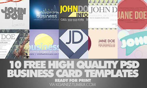 10 FREE Business Card Template